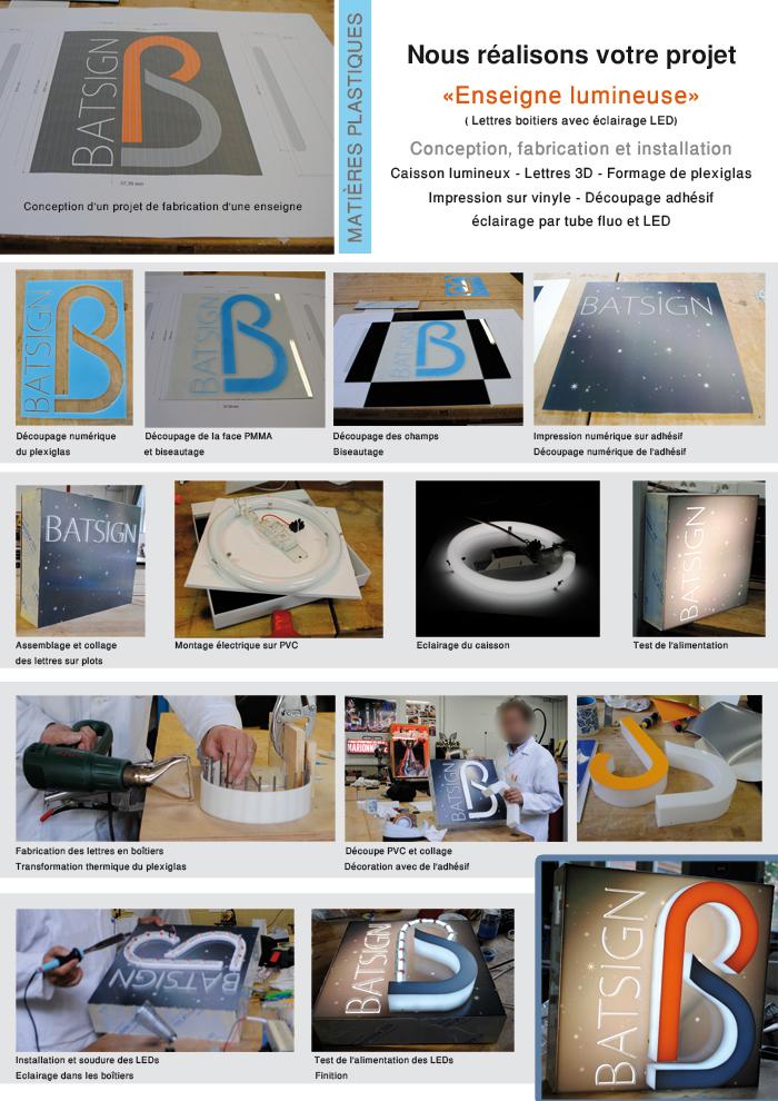 Souvent BATSIGN : conception, fabrication et installation d'enseigne  PX55