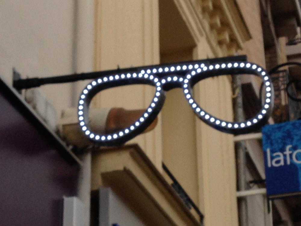enseigne lunette led